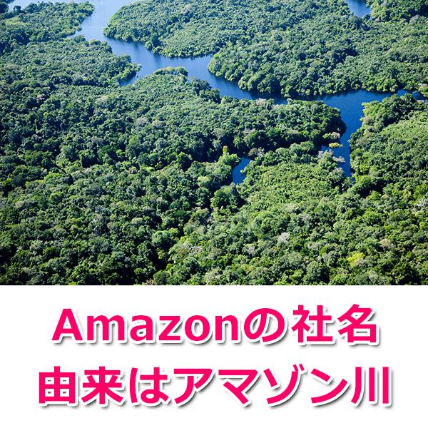 社名の由来は「アマゾン川」